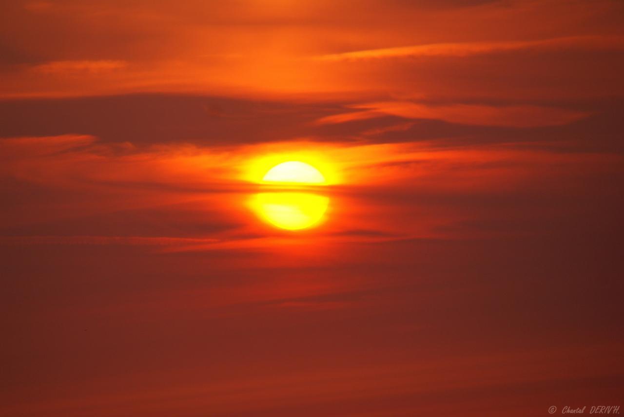 Couché de soleil sur la Mer du Nord