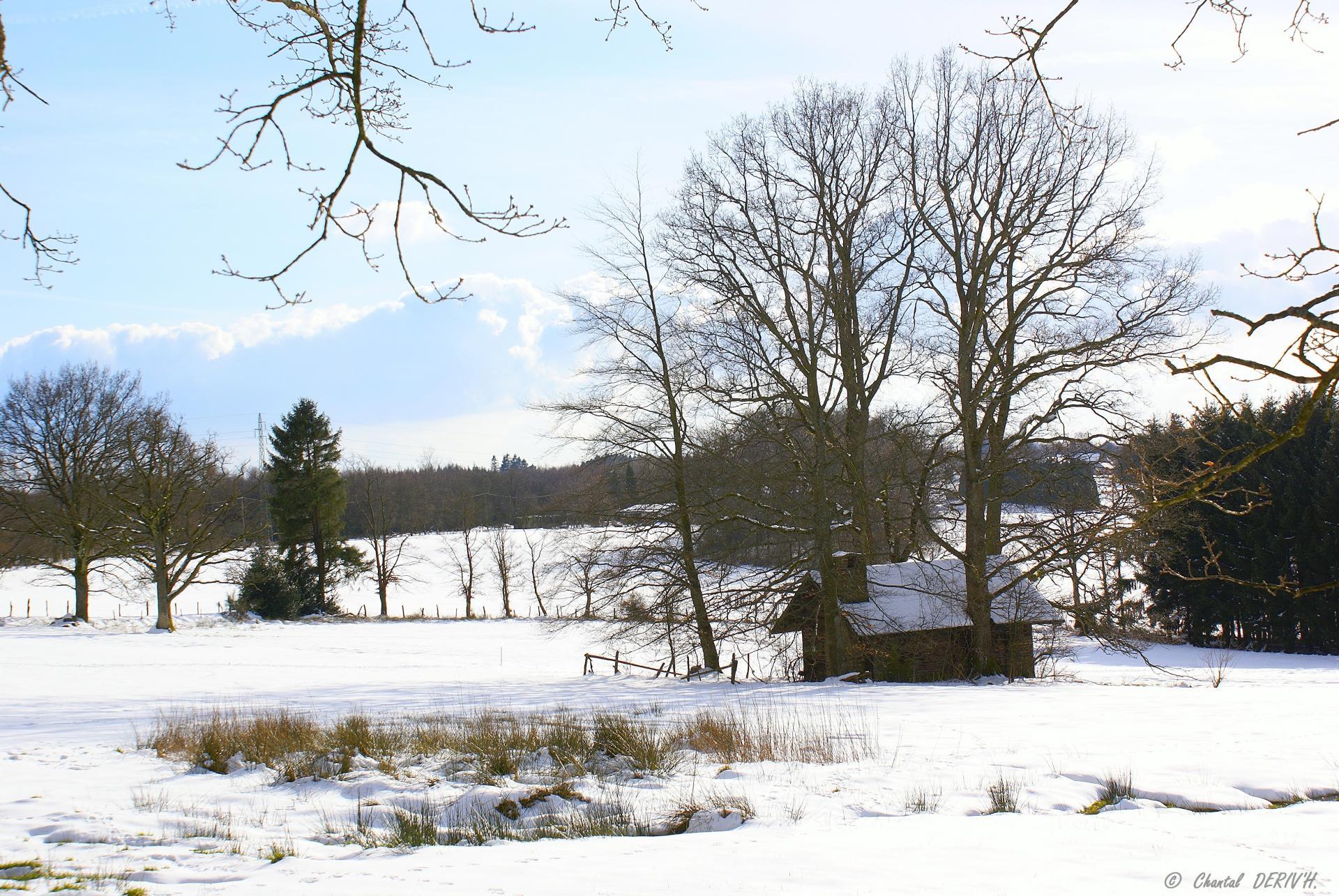 Maisonnette sous la neige